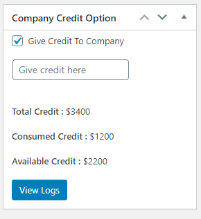 Setting Credit Limit