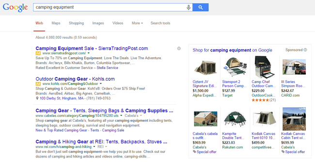 Search engine advertisements holiday marketing strategy